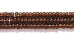Image Seed Beads Czech Seed size 11 root beer transparent