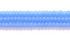 Seed Beads Czech Seed size 11 opal blue opalescent