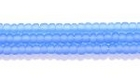 Seed Beads Czech Seed size 11 light sapphire blue transparent matte