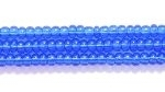 Seed Beads Czech Seed size 11 dark sapphire blue transparent