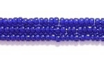 Seed Beads Czech Seed size 11 cobalt blue transparent