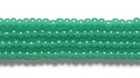 Seed Beads Czech Seed size 11 opal deep green  transparent