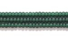 Seed Beads Czech Seed size 11 deep green transparent matte