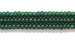Image Seed Beads Czech Seed size 11 deep green transparent