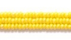 Seed Beads Czech Seed size 11 dark yellow opaque luster