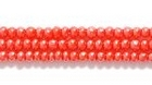 Seed Beads Czech Seed size 11 light red opaque luster