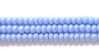 Seed Beads Czech Seed size 11 pale blue opaque luster