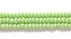 Seed Beads Czech Seed size 11 pale lime green opaque luster