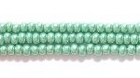 Seed Beads Czech Seed size 11 green opaque luster