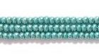 Seed Beads Czech Seed size 11 blue green opaque luster