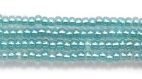 Seed Beads Czech Seed size 11 light aqua green color lined transparent