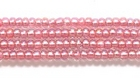 Seed Beads Czech Seed size 11 mauve pink color lined transparent