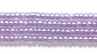 Seed Beads Czech Seed size 11 purple color lined transparent