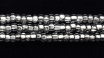 Image Seed Beads Czech Seed size 11 crystal silver lined
