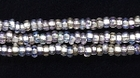 Seed Beads Czech Seed size 11 crystal silver lined iridescent