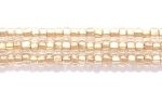 Image Seed Beads Czech Seed size 11 crystal brass lined