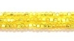 Image Seed Beads Czech Seed size 11 yellow silver lined