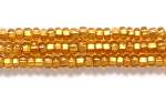 Image Seed Beads Czech Seed size 11 topaz brass lined