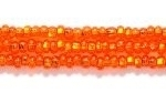 Seed Beads Czech Seed size 11 orange silver lined