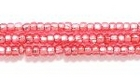 Seed Beads Czech Seed size 11 ruby red (dyed) silver lined