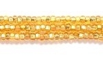 Image Seed Beads Czech Seed size 11 gold silver lined