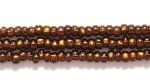 Seed Beads Czech Seed size 11 root beer silver lined