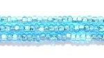 Image Seed Beads Czech Seed size 11 aqua blue silver lined