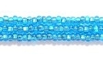 Image Seed Beads Czech Seed size 11 dark aqua silver lined