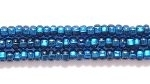 Image Seed Beads Czech Seed size 11 montana blue silver lined