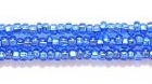 Seed Beads Czech Seed size 11 sapphire blue silver lined