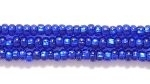 Image Seed Beads Czech Seed size 11 cobalt blue silver lined
