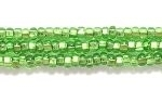 Image Seed Beads Czech Seed size 11 light green silver lined