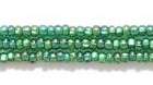 Seed Beads Czech Seed size 11 medium green silver lined iridescent