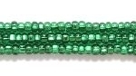 Image Seed Beads Czech Seed size 11 medium green silver lined