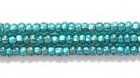 Seed Beads Czech Seed size 11 emerald silver lined iridescent
