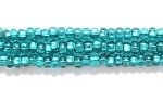 Image Seed Beads Czech Seed size 11 emerald silver lined