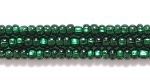 Image Seed Beads Czech Seed size 11 dark green silver lined
