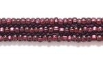 Image Seed Beads Czech Seed size 11 deep amethyst silver lined