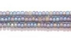 Seed Beads Czech Seed size 11 grey transparent iridescent matte