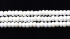 Seed Beads Czech Seed size 11 chalk white opaque iridescent