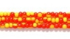 Seed Beads Czech Seed size 11 two tone yellow red opaque