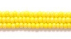 Seed Beads Czech Seed size 11 light yellow AB opaque iridescent