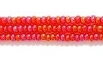 Seed Beads Czech Seed size 11 ruby red transparent iridescent