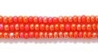 Seed Beads Czech Seed size 11 medium red opaque iridescent