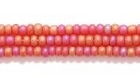 Seed Beads Czech Seed size 11 garnet red transparent iridescent matte