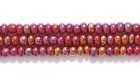 Seed Beads Czech Seed size 11 mahogany reddish brown opaque iridescent