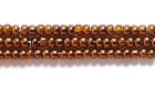 Seed Beads Czech Seed size 11 copper transparent iridescent