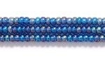 Image Seed Beads Czech Seed size 11 montana blue transparent iridescent