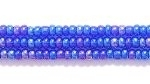 Seed Beads Czech Seed size 11 cobalt blue transparent iridescent