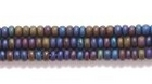 Seed Beads Czech Seed size 11 peacock blue transparent iridescent matte